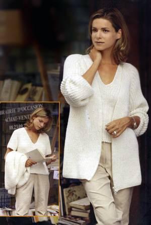 Вязаная двойка: жакет и пуловер