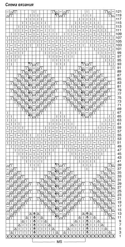 Рисунок вязания на рукав 595